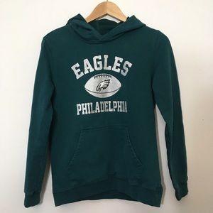 NFL Philadelphia Eagles Green Hoodie Large